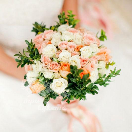 Букет невесты роза кустовая